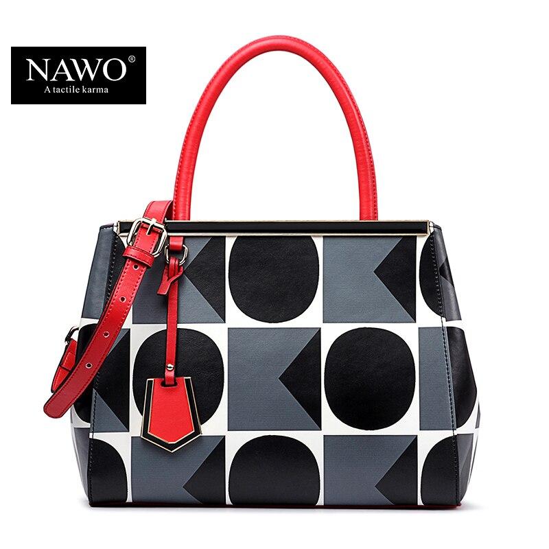 NAWO  New Fashion Brand Bag Ladies Luxury Leather Handbag Tote Shoulder Bags Wom