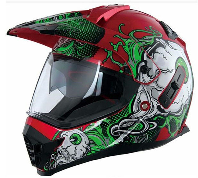 Dirt Bike Helmet With Visor >> Bluetooth Motocross Helmets Double Visor Motorbike Atv Dirt Bike