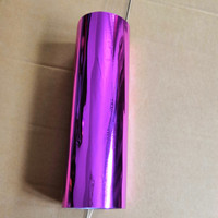 Hot stamping foil metallic Purplish red color hot press on paper card or plastic stamping foil heat stamping film 21cm x 120m