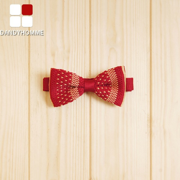 DANDY HOMME High Quality 2015 Men Wedding Groom Business Formal Suits Bow Ties Red Small Floral Printed Gentleman Christmas