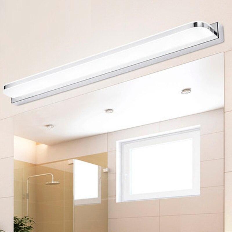 stile moderno led luce frontale a specchio bagno lampada da parete acrilico montato sconce applique da