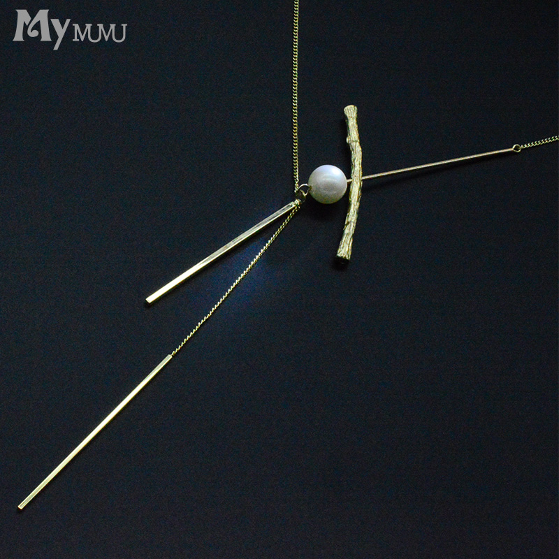 mymumu Korean fashion wild sweater chain long section personality necklace 2017 new design models pendant