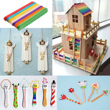 50Pcs Wooden Popsicle Sticks