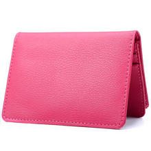 Phenas Brand Fashion Genuine Leather Card Holder Business ID Credit Card Holder Case Wallet Bifold Coin Purse 5 Colors