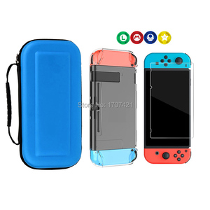 Image 4 - 8 in 1 for Nintend Switch Carrying Storage Bag Tempered Glass Screen Protector for Nintendoswitch Hard Shell Case for NS Switch