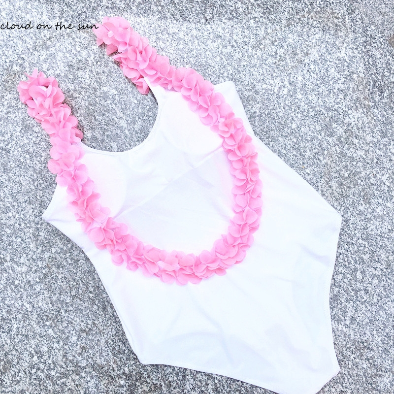 One Piece Swimsuit Swimwear 2017 Women's Swimming Suit White Swimsuits Fused Flower Backless Monokini Bathing Suit For Women one piece swimsuits trikinis high cut thong swimsuit sexy strappy monokini swim suits high quality denim women s sports swimwear