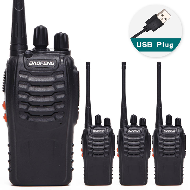 4pcs BAOFENG BF 888S Walkie talkie UHF Two way radio baofeng 888S UHF 400 470MHz 16CH