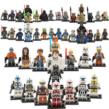 8pcs/lot Figure Set Stormtrooper Kylo Ren Darth Vader Padme Luke Mace Windu Yoda R2d2 Building Blocks Toys(China)