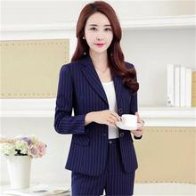 Women business Suits 2018 Fashion Women's Pants Suit slim Suit Jackets with Pants Office Ladies formal OL Pants Work wear sets