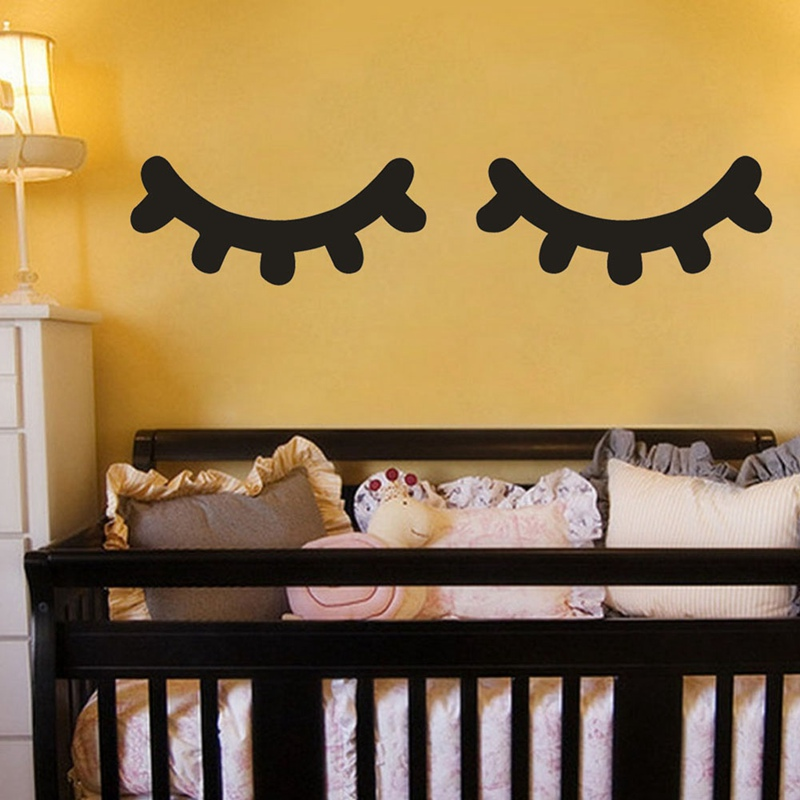 bedroom sleep eye decorative wall sticker sleepy eyes decal