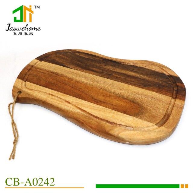 Alta qualidade da madeira de acácia tábua de queijos de madeira tábua de cortar placas servindo