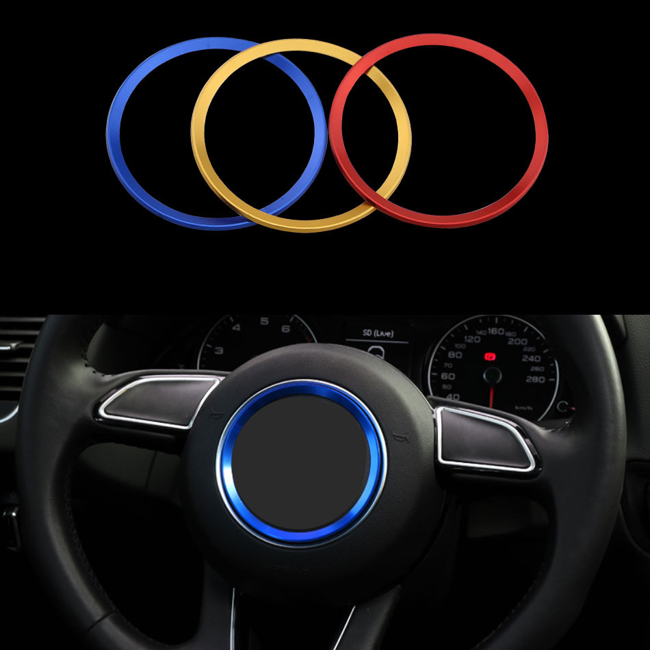 1 Piece Stainless Steel Steering Wheel Decorative Circle Trim Sticker for Audi A4 B5 B6 B8 A6 C5 A3 A5 Q5 Q7 Car Accessories free ship turbo k03 29 53039700029 53039880029 058145703j n058145703c for audi a4 a6 vw passat 1 8t amg awm atw aug bfb aeb 1 8l