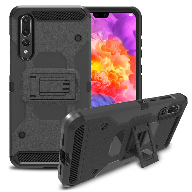 low priced 3d63e c939a US $4.74 20% OFF|For Huawei P20 /P20 Pro Heavy Duty Hybrid Rugged Case With  Belt Clip Holster Shockproof Hard Back Cover For Huawei P20 / P20 Pro-in ...