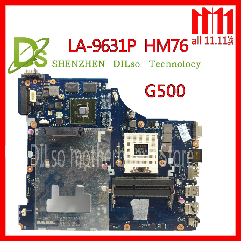 KEFU LA-9631P For Lenovo G500 Laptop motherboard VIWGP/GR LA-9631P REV:1.0 HM76 support i3 i5 i7 cpu Test цена