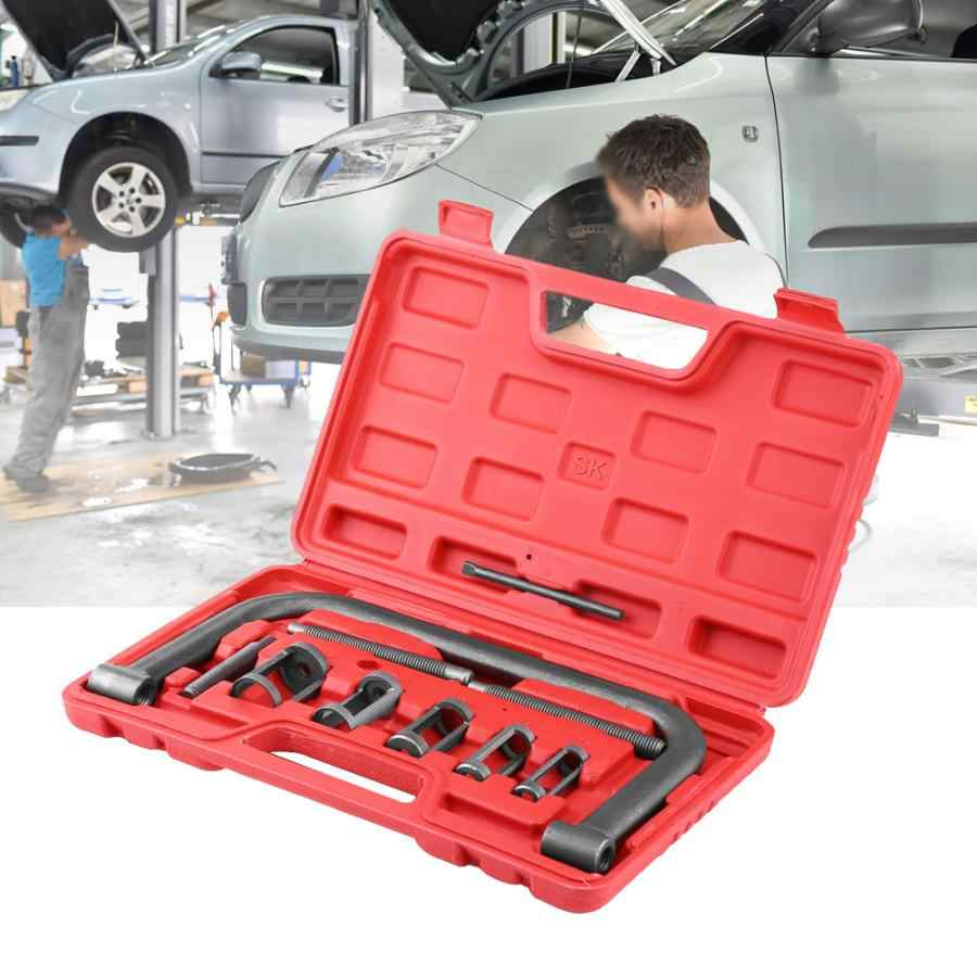 Oversea 10 Pcs Valve Spring Compressor Kit Removal Installer Tool For Car Van Motorcycle Engines Car Repair