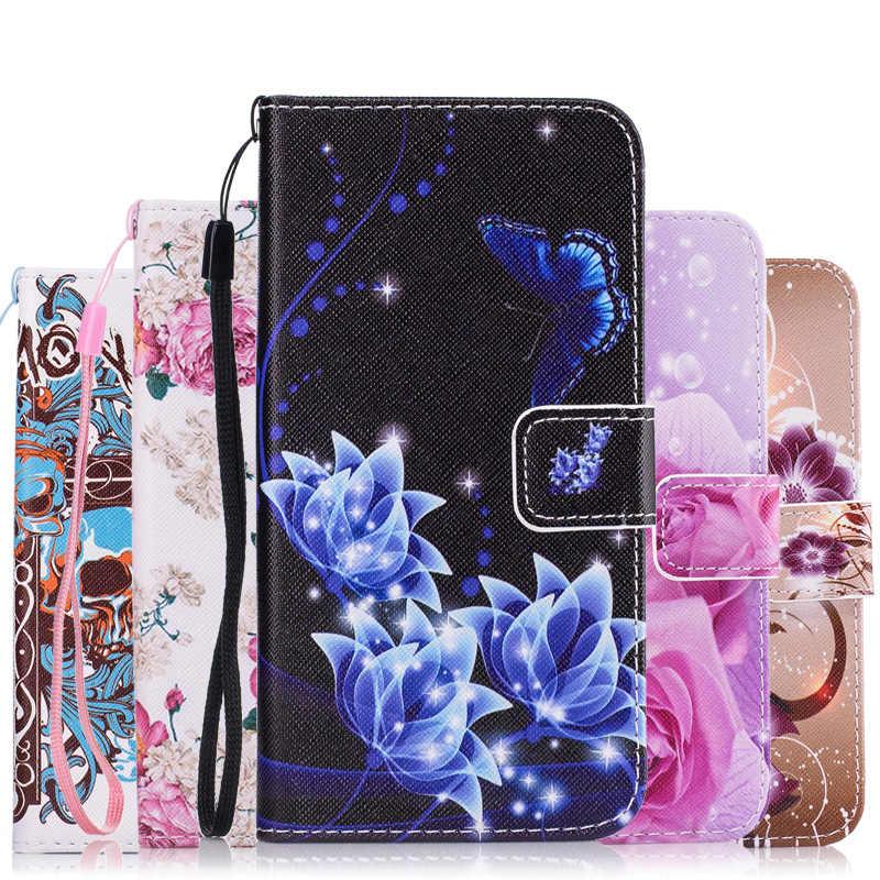 Fashion Colorful Rose Soft Leather Case For Wiko Lenny 2 3 4 Lenny2 Lenny3 Lenny4 4G LTE Cases Flip Cover Wallet Phone Protector