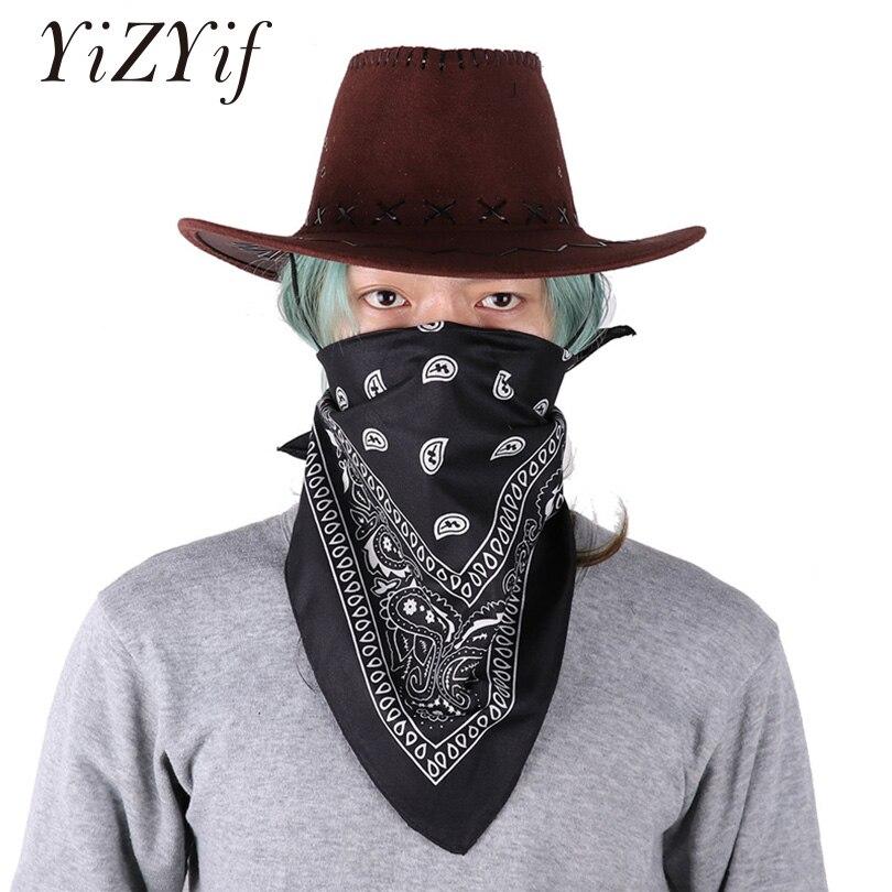 ab3863f8d46 YiZYiF Unisex Cowboy Hat sombrero hombre western Hat Faux Felt Wide Brim  Western Cowboy Hat with Kerchief Women men hat Fashion - Freemovieone.gq