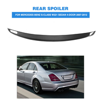 Углеродного волокна задний спойлер багажника крыло для Mercedes Benz s класса W221 S350 S400 S450 S500 S550 S600 S63 AMG Седан 4 двери 2007 2012