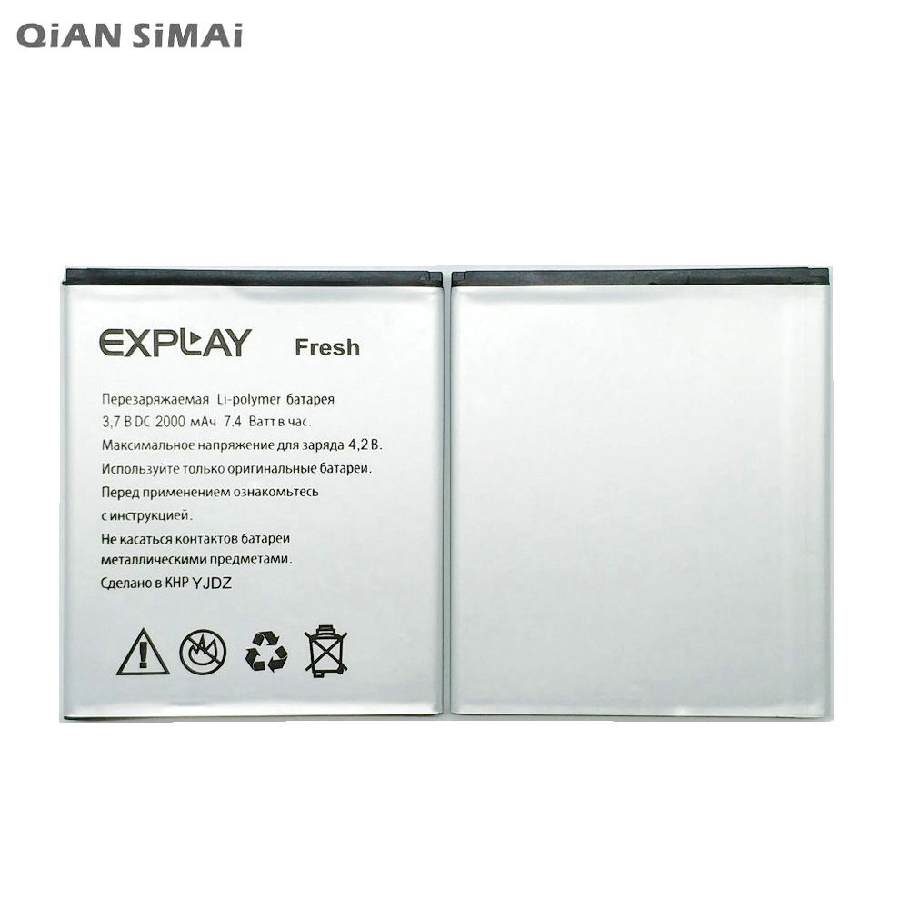 QiAN SiMAi 1pcs 100% high quality EXPLAY Fresh 2000mAh Battery For EXPLAY Fresh Mobile Phone  Freeshipping+Tracking Code
