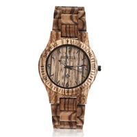 BEWELL W086B Men S Full Wood Wristwatch Wooden Wristband Quartz Analog Date Display Watch Luxury Gifts