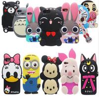 26 Types For Apple Iphone 4 Iphone 4S Case Lovely Cute 3D Cartoon Soft Silicon Cover