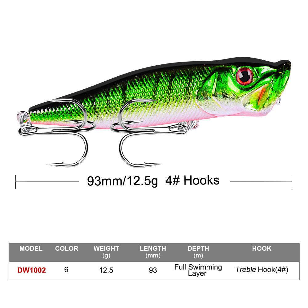 8cm12g Poppers pesca lure top water pesca pesce esche wobbler isca artificiale