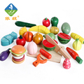 Assembly Food Wood Toys Simulation Fruit and Vegetable Slice Toy Kitchen Toys Magnet Single Sold Classic Pretend Play Unisex