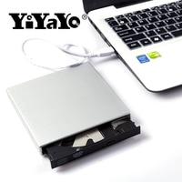 YiYaYo USB 2,0 CD RW DVD-ROM CD-ROM плеер Внешний оптический dvd привод Регистраторы portátil для портативных компьютеров pc Windows 7/8