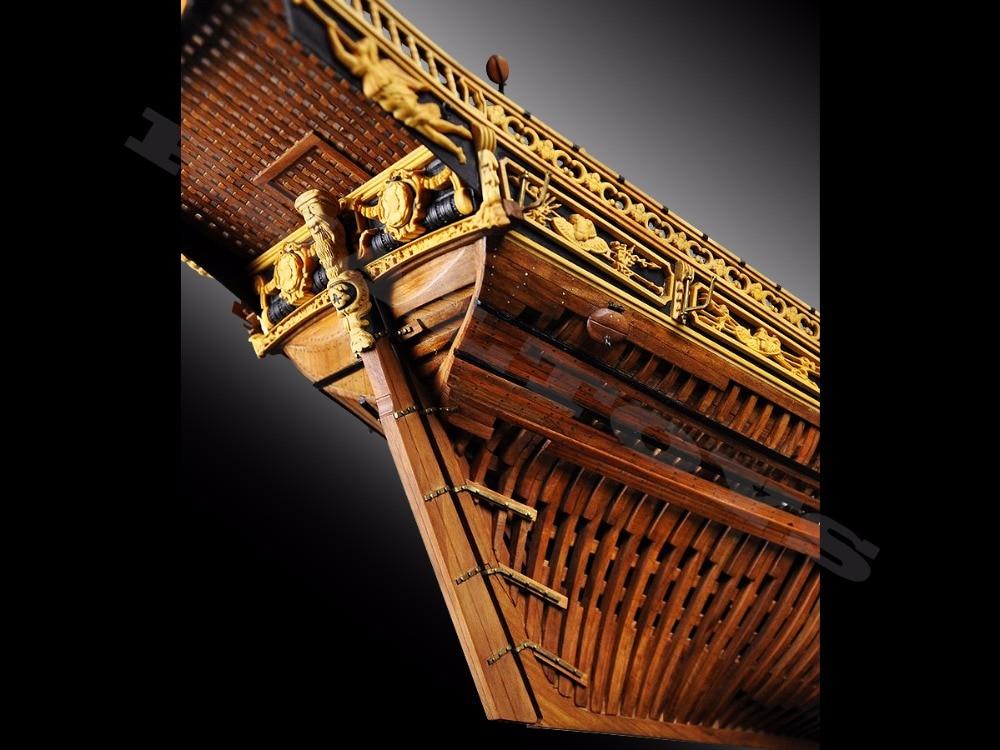 RealTS Klassisk trä segelbåt träskala LE REQUIN träfartygsmodell - Byggklossar och byggleksaker - Foto 6