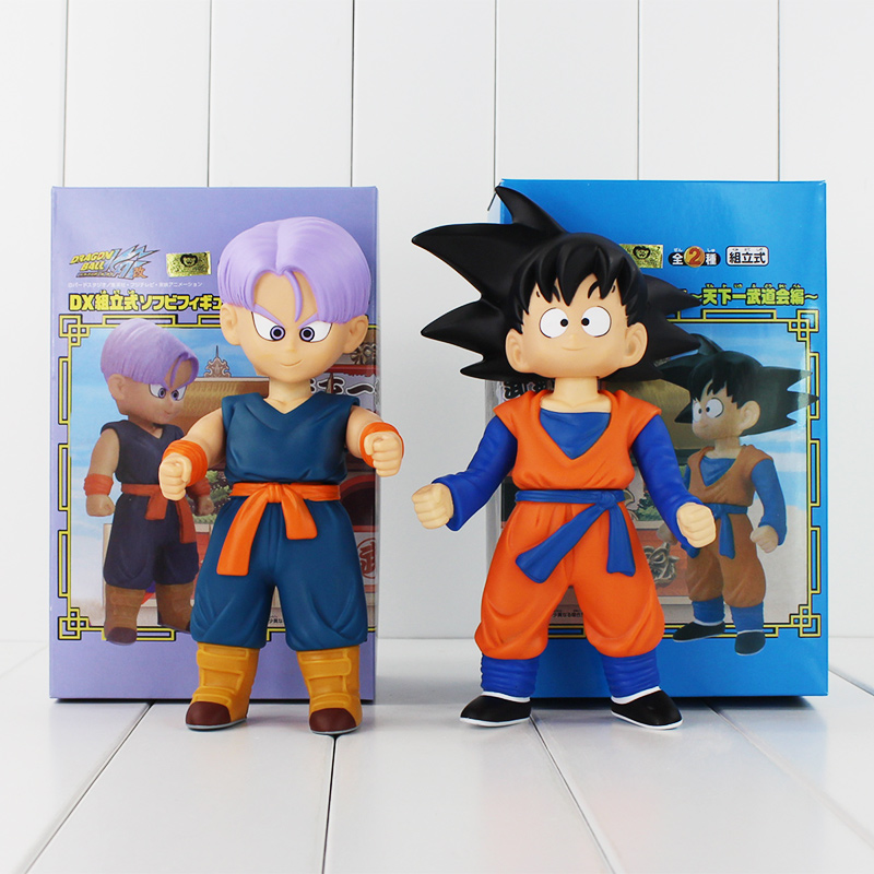 2Styles Dragon Ball Goku Son Goten VS Trunks PVC Action Figure Toys Model Brinquedos Birthday Gifts For Childrens 8 20cm