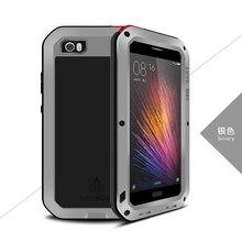 Original Love Mei Waterproof case for xiaomi m5 case Metal Aluminum case cover phone cases xiaomi mi5 Gorilla Toughened Glass