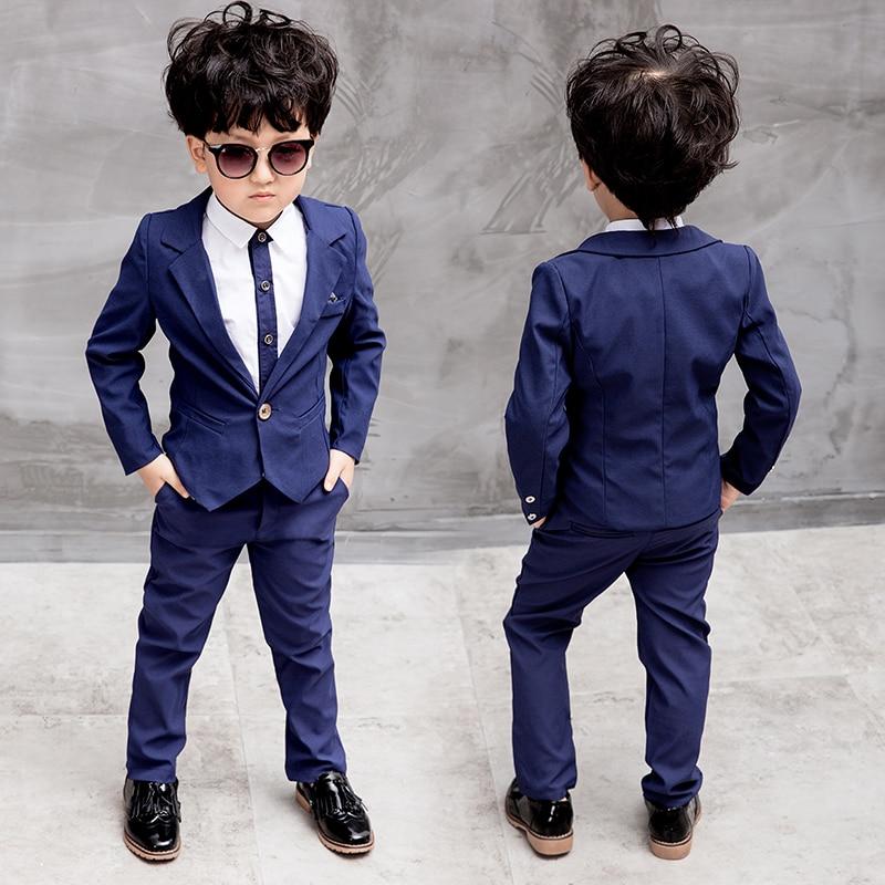 21943d07a01b Children Suit Baby Boys Suits Kids Blazer Boys Formal Suit For Wedding Boys  Clothes Set Jackets Blazer+Pants 2pcs 3-8Y - aliexpress.com - imall.com