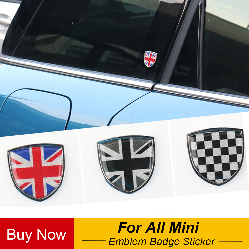 Car Metal Emblem Badge Sticker Decals Decorative For Mini Cooper JCW One Countryman Clubman F55 R60 F60 Car Styling Accessories