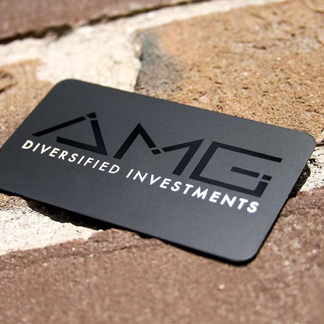Personnalise Colore Impression Qualite Grande Surface Noir En Acier Inoxydable Carte Metallique Daffaires