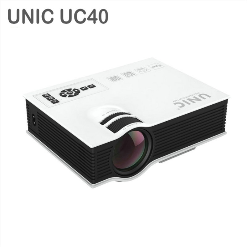 Original unic uc40 home cinema hdmi usb lcd hd led mini for Usb projector reviews