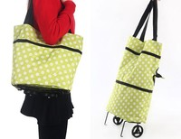 49*39cm Dual use Portable Folding Reusable Shopping Trolley Shopping Cart Carrier Bag Storage Bag