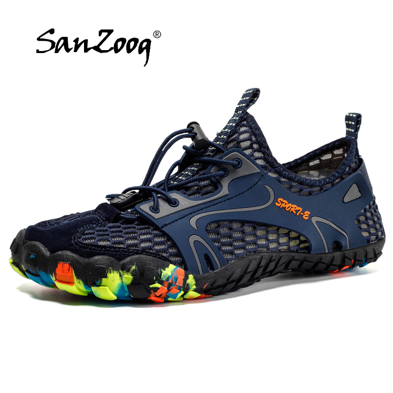Mesh Barefoot Aqua Shoes Upstream Men Outdoor Trekking Water Shoes Floating Shoes Wading Reef Shoes Finger Shoes Camping Hiking