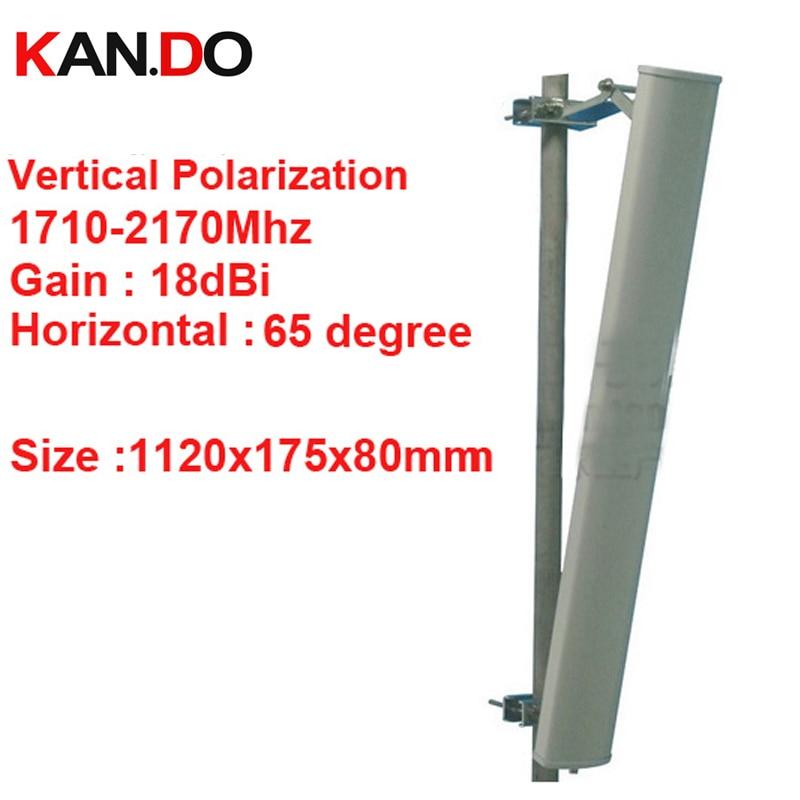 18dbi polarisation verticale 65 deg 1710-2170 Mhz panneau antenne DCS 3G antenne Base station utilisation LTE FDD antenne TDD 4G LTE