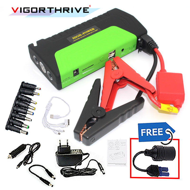 Chargeur de voiture Mini dispositif de démarrage d'urgence 600A Portable 12 V batterie externe démarreur de saut de voiture pour voiture essence voiture Booster de batterie