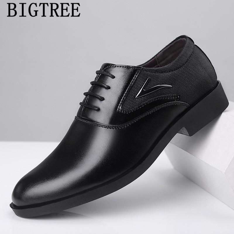 Suit Shoes Oxford Shoes Men Classic Elegant Shoes Men Formal Leather Chassures Homme Tenis Masculino Adulto Zapatos Cuero Hombre