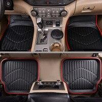 Car Pass Universal Car Floor Mats For Auto Anti Slip Mat Red Black Car Floot Mats