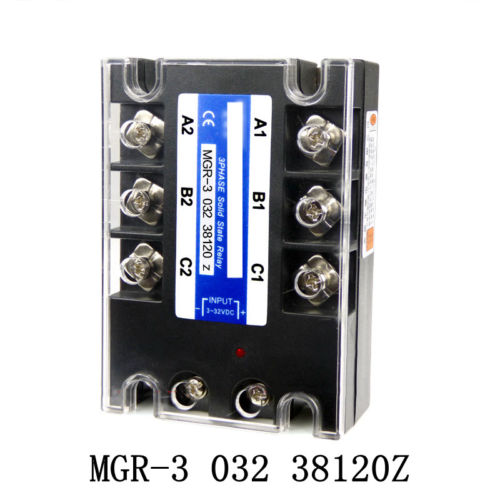 DC à AC 3-32VDC entrée 380VAC sortie SSR 120A 032 38120Z trois relais à semi-conducteurs à 3 phases