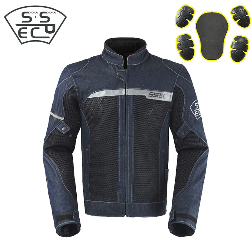 2018 Brand New Demin Motorcycle Jacket Motocross Suits Jacket&Pants Moto Jacket Protective Gear Armor Men Motorcycle Clothing herobiker motorcycle jacket body armor motocross protective gear motocross off road racing vest moto armor vest black and white