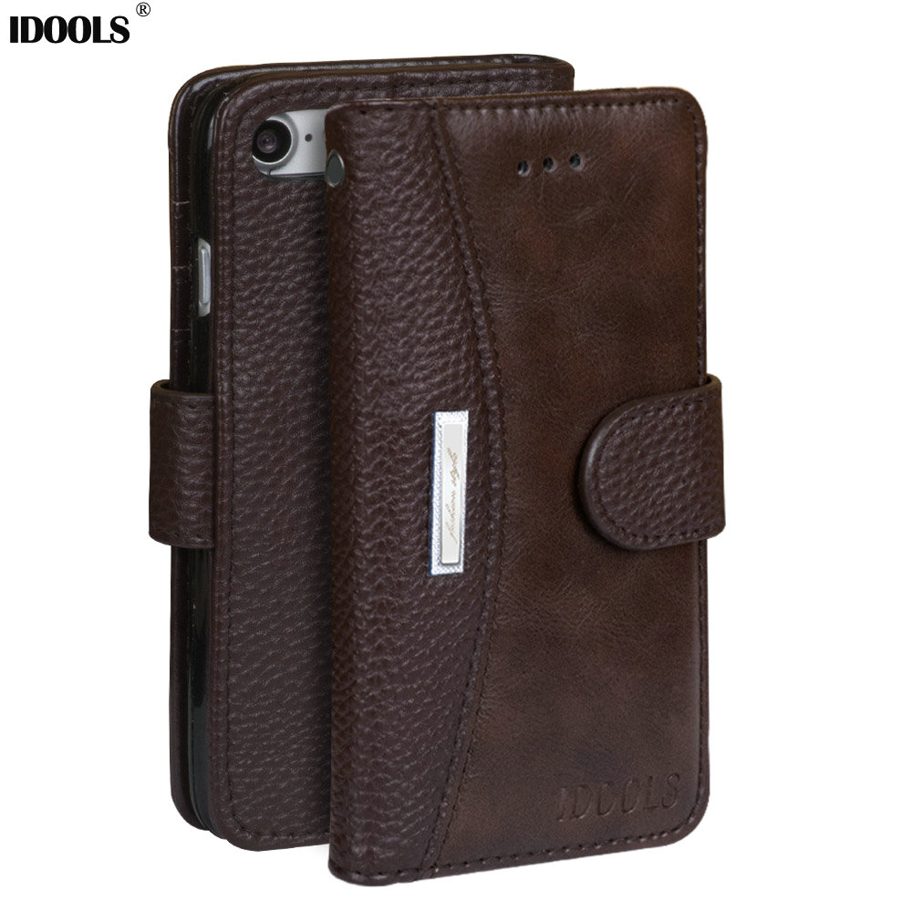 For iPhone 7 Case Cover Leather Dirt Resistant Wallet Flip Cover Mobile Phone Cases for iPhone 7 Bags With Card...  iphone 7 cases with card holder | Top 10 iPhone 7 Wallet Cases – Do you need a full wallet replacement or something on the go? For font b iPhone b font font b 7 b font font b Case b font