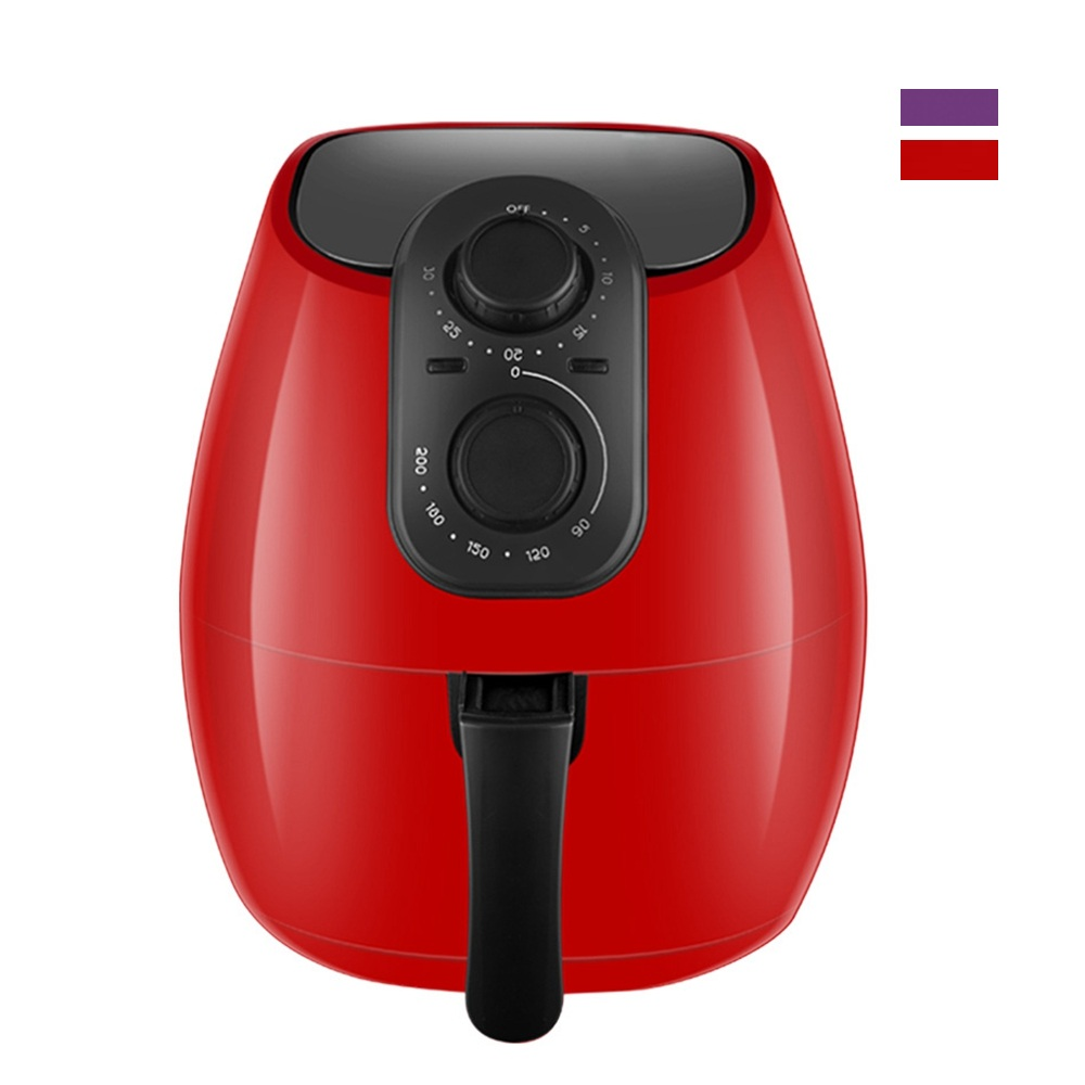 CUKYI 220V 1300W Home Electric Fryer 4L Large Capacity Oil-Free Chips Fries Machine Multifunctional Electric Oven BBQ Grill