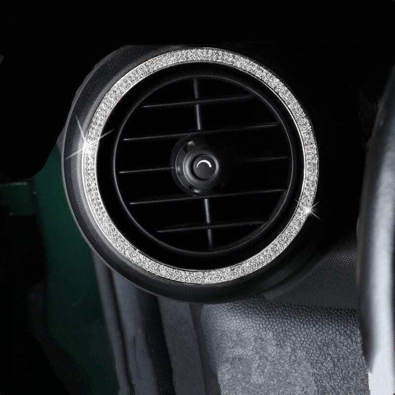 Couvercle de sortie d'aération de voiture avec cristaux moulures garniture pour Mini Cooper Clubman Countryman F55 F56 F60 R55 R56 R60 style