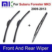 Спереди и сзади стеклоочистителей для Subaru Forester MK3 2009 2010 2011 2012 2013 Силиконовая Резина стеклоочистители автомобиля Интимные аксессуары