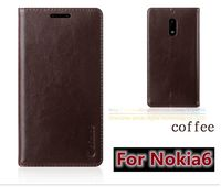 Original Aimak Brand Top Quality Genuine Leather Stand Fashion Book Style Phone Bag Case For Nokia