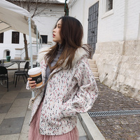 women 2019 short winter coat woolen coat tweed chic small women woolen coat tide MX18D9528
