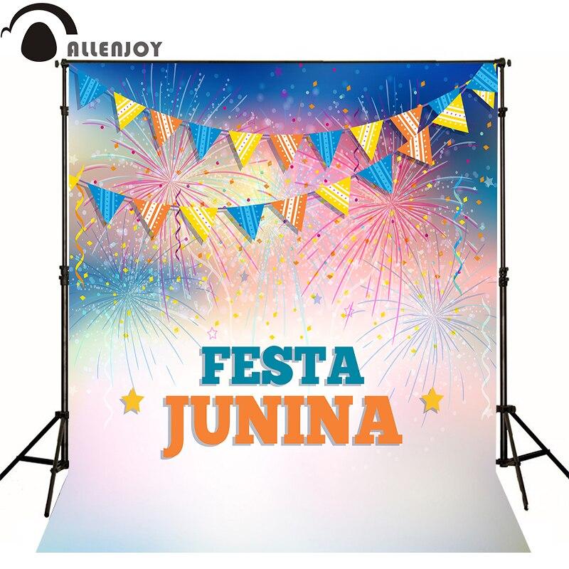AllEnjoy photography background festa junina banner newborn vinyl photocall flags Professional photographic backdrop studio